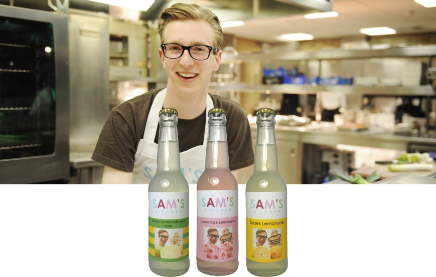 Sam French with his Sussex soft drinks