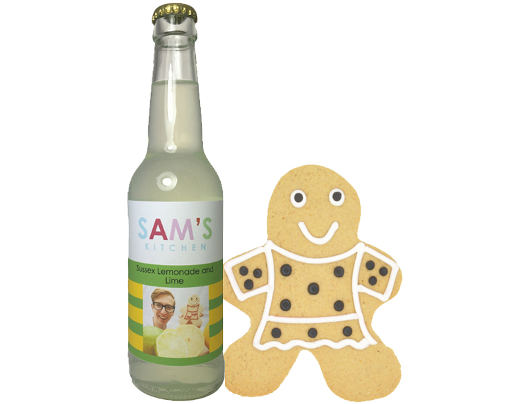 Sam's Kitchen Sussex Lemonade and Lime with Gingerbread lady by Sam French