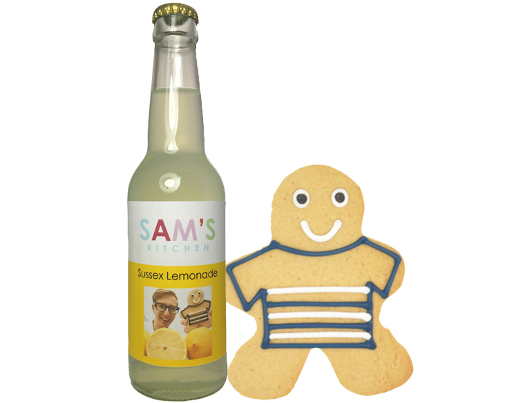 Sam's Kitchen Sussex Lemonade with Gingerbread Man by Sam French